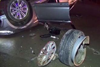 Фото с места аварии с участием автобуса волейбольного «Зенита» из Казани