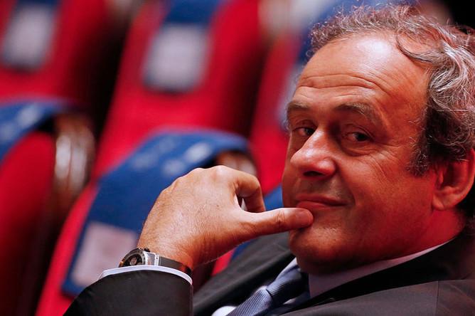 Президент УЕФА Мишель Платини, 2015 год