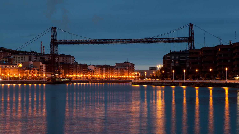 Бискайский мост-транспортер в окрестностях Бильбао, Испания