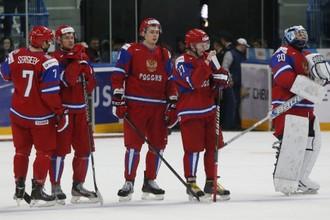 Игроки сборной России после матча 31 декабря с Канадой