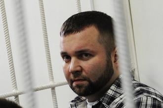 Бывший сотрудник МВД, бизнесмен Максим Каганский, обвиняемый в мошенничестве, в Хорошевском суде.