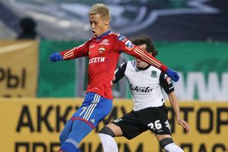 В проигранном «Краснодару» матче Кейсуке Хонда провел на поле всего 38 минут