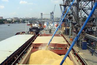 Отправка российского зерна на экспорт