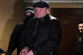 Бывший глава Федеральной службы исполнения наказаний Александр Реймер, обвиняемый в мошенничестве на 3 млрд рублей, в Пресненском суде.