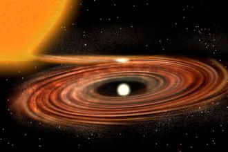 Аккреционный диск вокруг двойной звездной системы WZ Sge