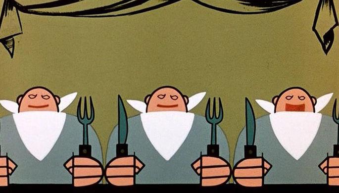 Кадр из мультфильма «Три толстяка» (1963)