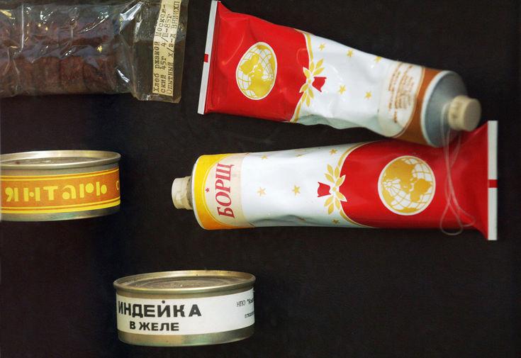 Образцы питания, которые использовали космонавты во время полета на пилотируемой станции «Мир»