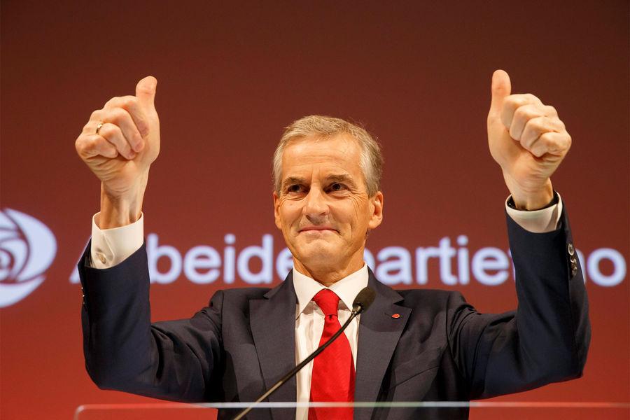 Лидер «Рабочей партии» Норвегии Йонас Гер Стер