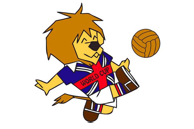 1966 Англия – Лев Вилли. Самый первый талисман футбольных чемпионатов мира был придуман там же, где и, собственно, футбол. В 1966 году впервые гостей мундиаля в Англии встречал веселый лев по имени Вилли. Традиционный символ Великобритании был одет в футбольную форму, на его груди красовался знаменитый британский флаг – «Юнион Джек», а сам царь зверей жмурил глаза и приветливо улыбался.