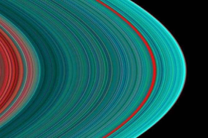 Ультрафиолетовое изображение колец Сатурна, 2004 год