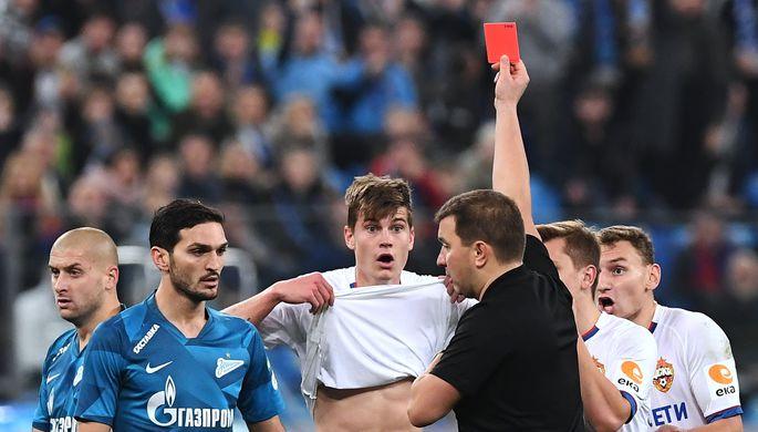 Арбитр Михаил Вилков в матче Зенит- ЦСКА