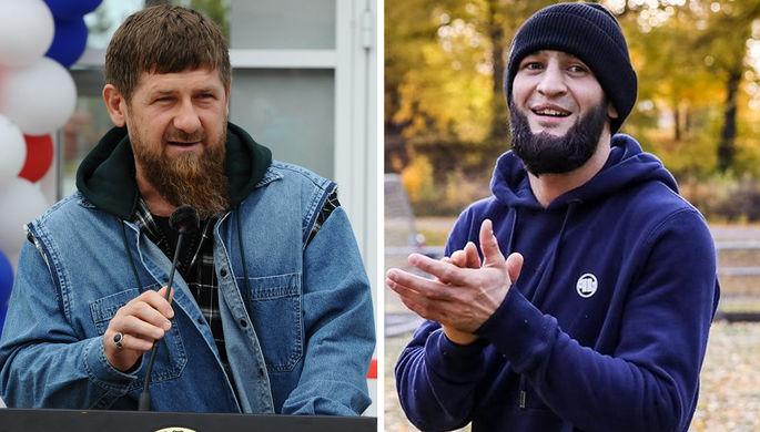 Рамзан Кадыров и боец UFC Хамзат Чимаев (коллаж)
