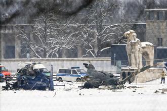 Полицейские вертолеты столкнулись в Берлине на учениях