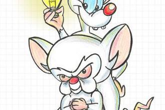 Пинки и Брейн, главные герои мультсериала о лабораторных мышах