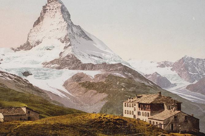 Вид на гору Маттерхорн — вершина в Пеннинских Альпах, 1893