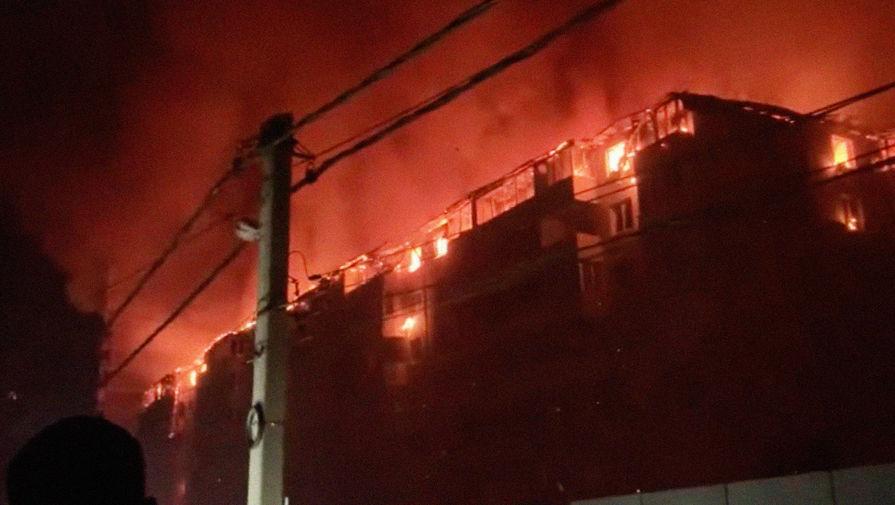На месте пожара в многоквартирном жилом доме в Краснодаре, 13 сентября 2020 года