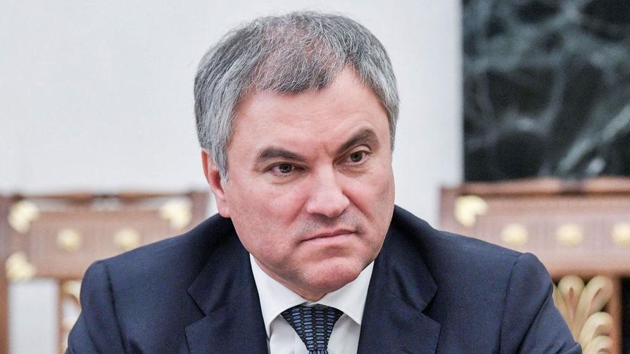 Спикер Госдумы Вячеслав Володин об изменениях в Конституцию