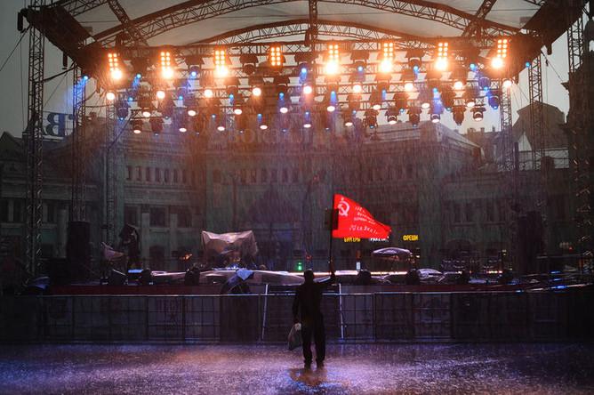 Во время сильного дождя в Москве, 9 мая 2019 года