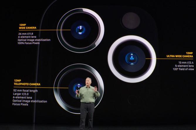 Камеры нового iPhone 11 Pro на презентации компании Apple, 10 сентября 2019 года
