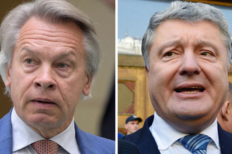 Алексей Пушков и Петр Порошенко