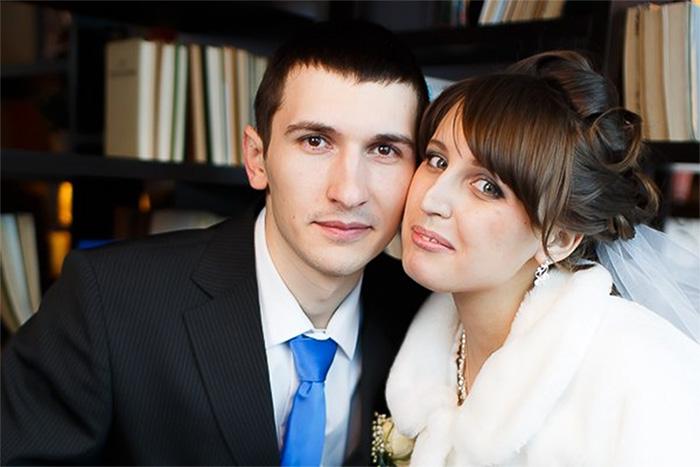 Предположительно погибший в результате стрельбы Александр Мякушко с супругой