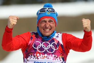 Александр Легков на сочинской Олимпиаде