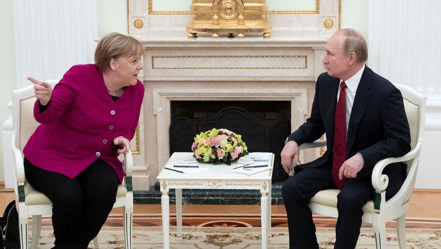 Меркель обсудила с Путиным Северный поток  2