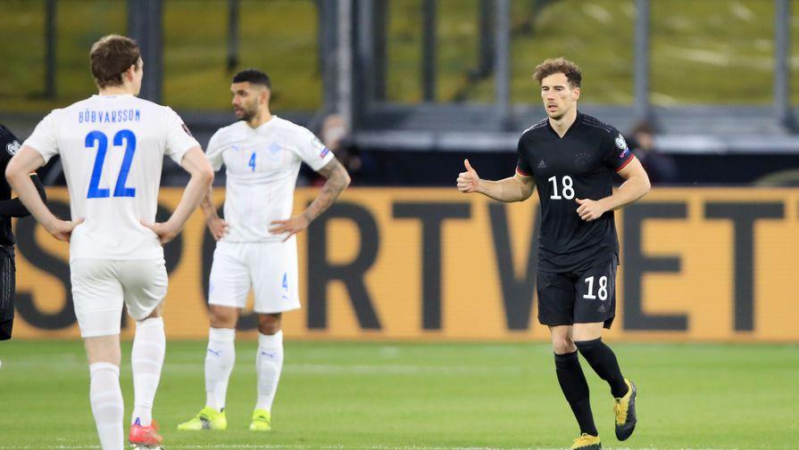 Эпизод матча Германия — Исландия