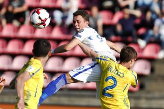 В игре бывший защитник пермского «Амкара» Богдан Бутко