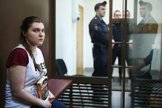 Во время заседания по делу Анны Павликовой в Дорогомиловском суде города Москвы, 16 августа 2018 года