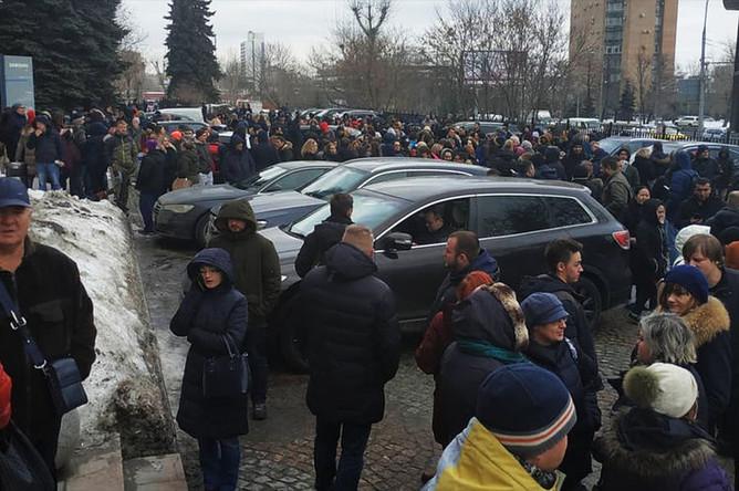 Эвакуация ТЦ «Варшавская плаза» в Москве, 5 февраля 2019 года