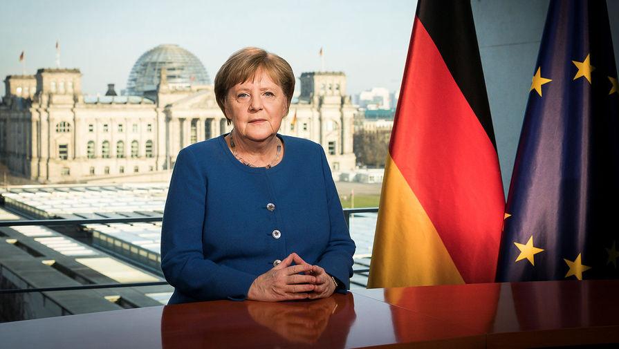 Канцлер ФРГ Ангела Меркель во время обращения к нации в Берлине, 18 марта 2020 года