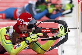 На стрельбище бронзовый призер в спринте словенец Яков Фак