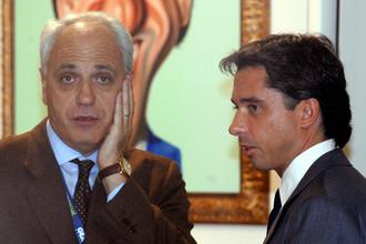 Заместитель гендиректора «Ювентуса» Роберто Беттега (слева) вновь столкнулся с неприятностями из-за Алессандро Моджи (справа)
