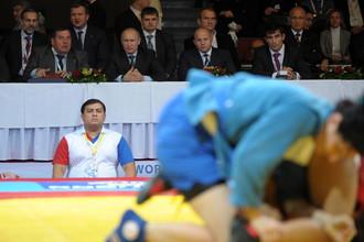 Владимир Путин на чемпионате мира по самбо