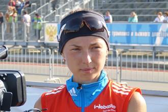 Российская биатлониста Ольга Якушова