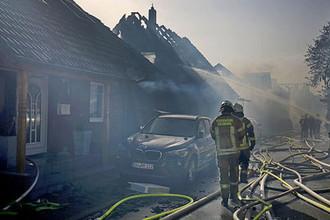 Последствия крупного пожара в немецком Зигбурге, 7 августа 2018 года