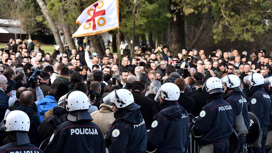 Ситуация в центре Подгорицы, Черногория, 26 декабря 2019 года