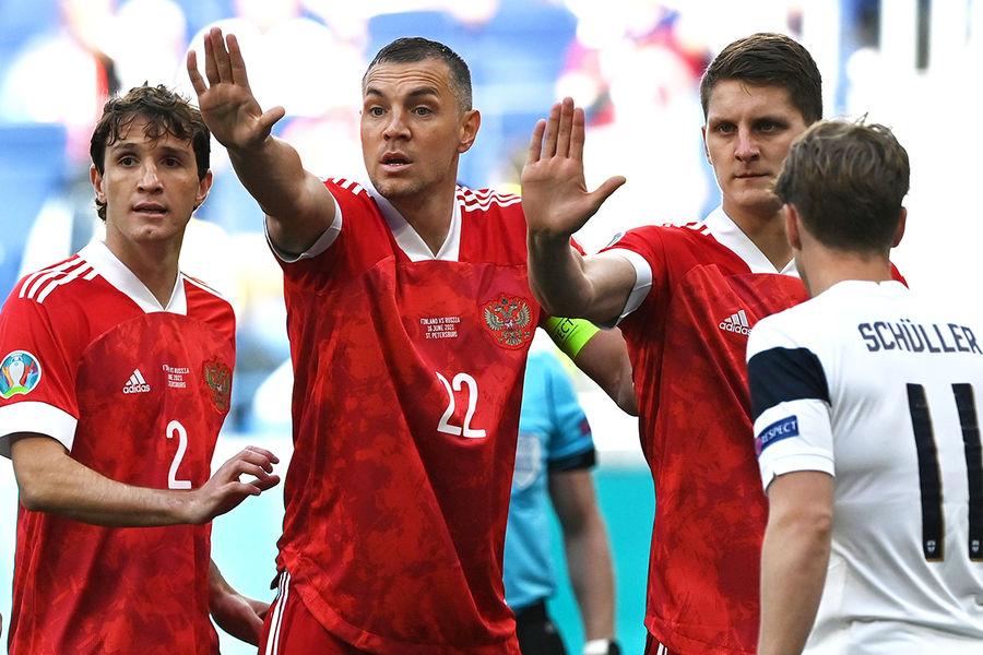 Во время матча 2-го тура группового этапа чемпионата Европы по футболу 2020 между сборными Финляндии и России, 16 июня 2021 года