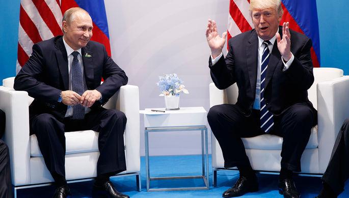 Президент России Владимир Путин и президент США Дональд Трамп во время встречи на саммите G20 в...