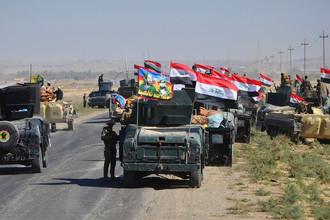 Бронетехника федеральных войск Ирака в Киркуке, 16 октября 2017 года