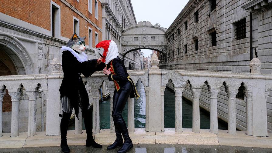 Улицы Венеции во время карнавала, 7 февраля 2021 года
