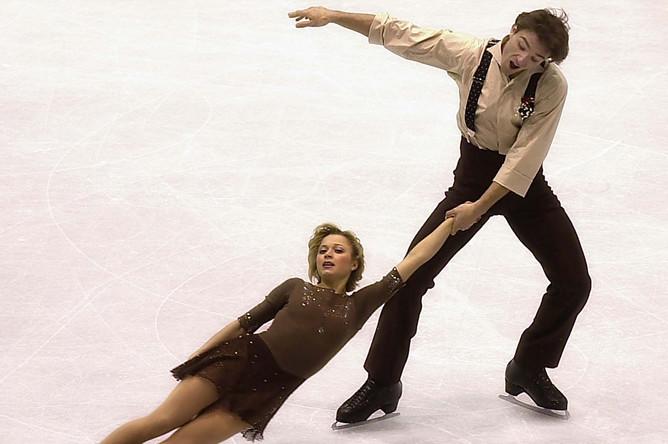 Елена Бережная и Антон Сихарулидзе в Братиславе, 2001 год