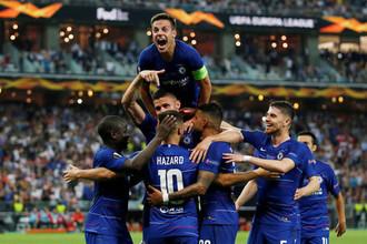 Во время финального матча Лиги Европы между «Челси» и «Арсеналом», 29 мая 2019 года