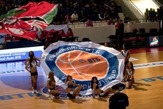 Церемония открытия одного из матчей Единой лиги ВТБ