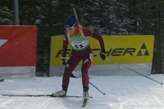 Анастасия Егорова во время индивидуальной гонки на чемпионате России