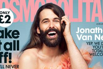 Джонатан Ван Несс на обложке британского Cosmopolitan