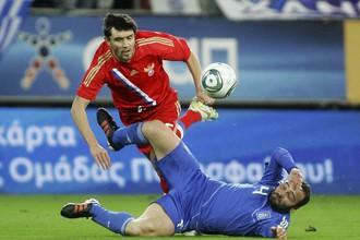 Сборные России и Греции сыграли вничью в товарищеском матче