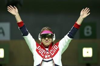Виталина Бацарашкина уже выиграла серебро в стрельбе из пневматического пистолета с 10 м, теперь она попробует улучшить результат в соревнованиях по стрельбе с 25 м