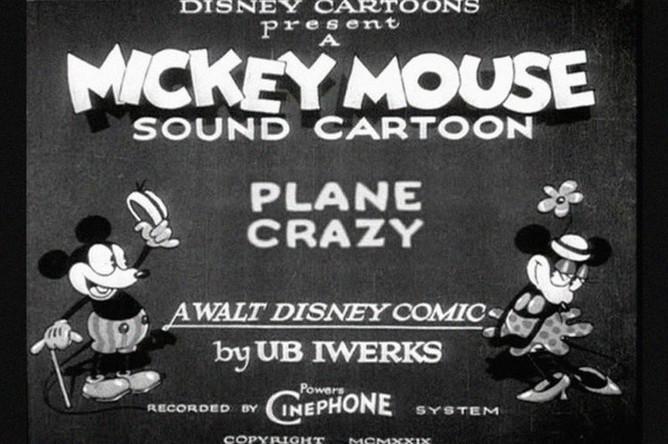 Первое появление Микки Мауса в мультфильме «Безумный самолет», который вышел 15 мая 1928 года